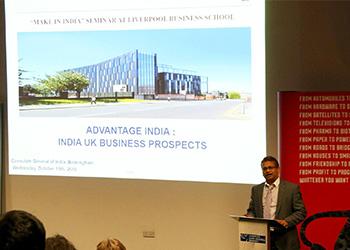 """Make in India"" seminar at Liverpool Business School"